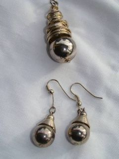 Vintage drop earrings and pendant
