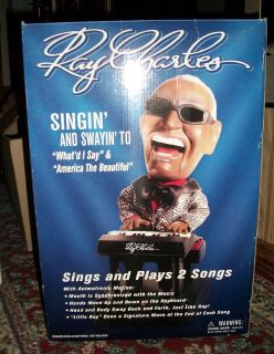 Collectable Ray Charles Singing & Swinging Animated Musical Toy Doll Figurine Collectible