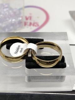 Gold Two Band Set Size 9