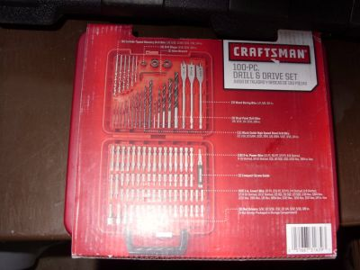 100 pc. drill & drive set