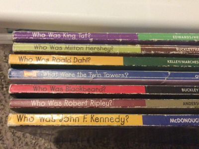 Set of 7 Who Was...? Books. Fair Condition