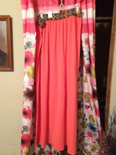 Nwot long maxie skirt in coral