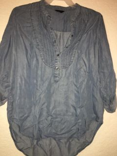 Women s mid button up