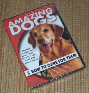 NEW Amazing Dogs DVD & How To Care for Them Stories Health Tips & Tricks