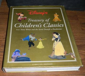 Disney's Treasury of Children's Classic LARGE Hardcover w/ Dustjacket Book