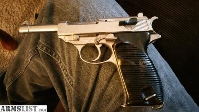 For Sale: Old WWII WAFFENAUT P38 GERMAN WALTHER CHROME PLATED