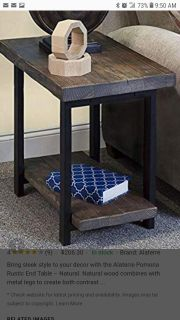 Panoma rustic wood end table