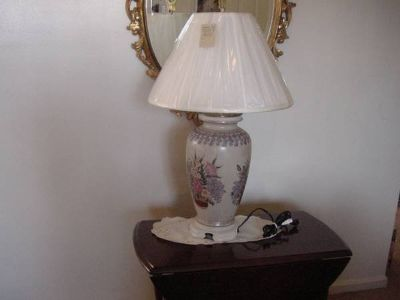 Vintage Floral Table Lamp $125 OBO
