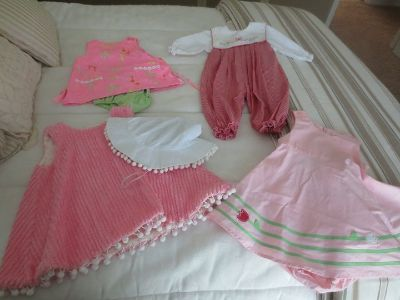 Girls size 6 months, 4 outfits