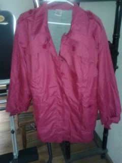 new in the plastic womens sangria colored trench jackets