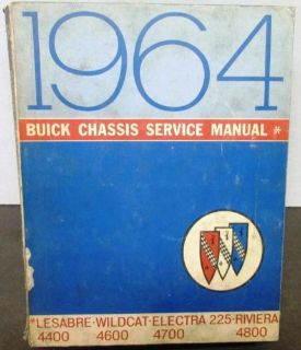 Purchase Original 1964 Buick Chassis Service Manual LeSabre Wildcat Riviera Electra motorcycle in Holts Summit, Missouri, United States, for US $29.64