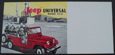 Purchase 1963 Jeep Universal CJ-6 4WD Overland Sales Brochure motorcycle in Holts Summit, Missouri, United States, for US $17.65