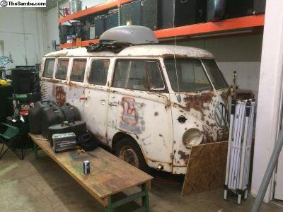 1966 lotus white Deluxe 13 window Bus