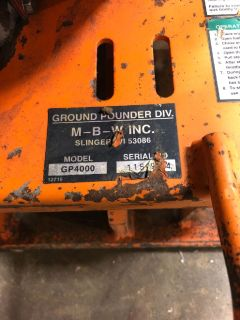 mbw gp 4000 plate compactor