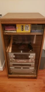 Vintage 80's Stereo Cabinet & Stereo