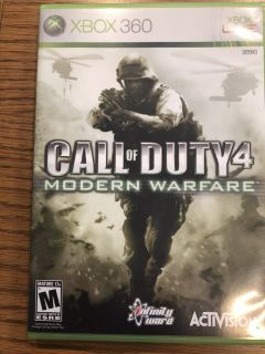 "XBOX 360 ""Call of Duty 4 - Modern Warfare"" Video Game"