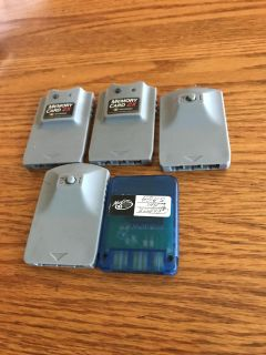 Lot of PlayStation memory cards