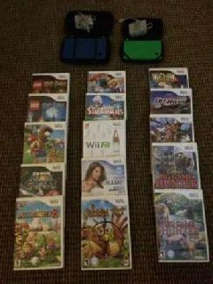 2 Nintendo DSi's, 15 Wii Games, and 13 DSi Games