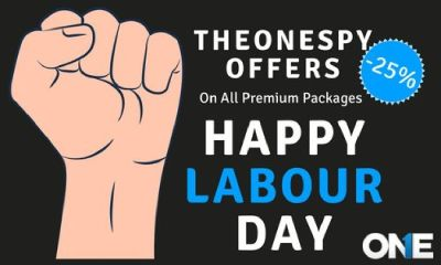 TheOneSpy 25% flat OFF offer on Labor Day on its premier packages