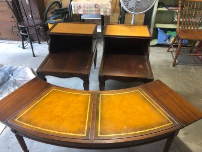 Vintage Coffee Table & End Tables