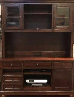 Office credenza with hutch
