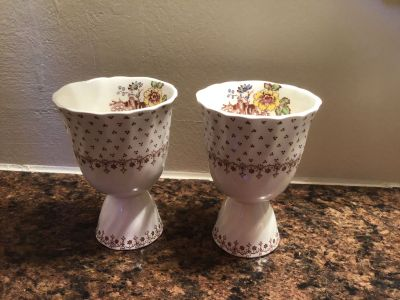 Set of 2 Vintage Royal Doulton Grantham Double Egg Cups