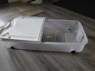 Storage Container With Wheels. Large