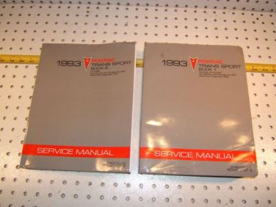Sell Pontiac Trans Sport 1993 OEM Service 2 Manuals for US & Canada models,S-9310-U-1 motorcycle in Rocklin, California, United States, for US $85.00