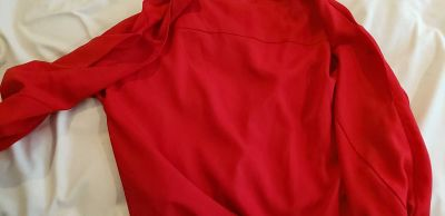 Ny and company red cold shoulder blouse