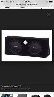 2 Rockford Fosgate subs and