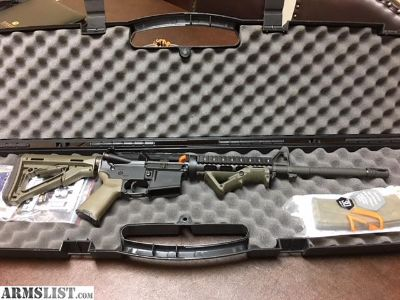 For Sale: Core 15 AR in od green like new in case never fired.
