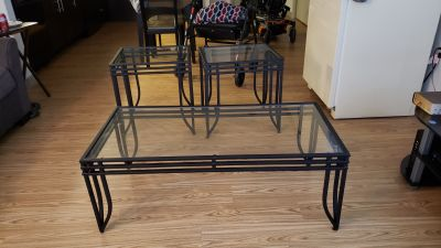 Coffee table set by Ashley furniture