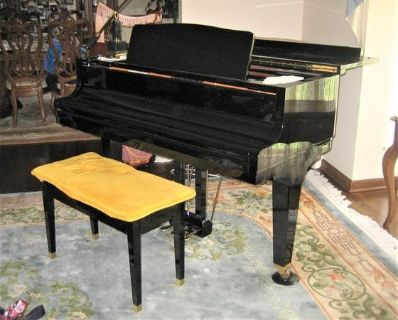 Kawai GE-2 Baby Grand Piano Ebony Polish - 1992