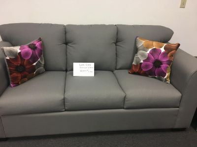 NEW GRAY SOFA WITH PILLOWS