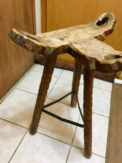 Antique birthing chair/stool