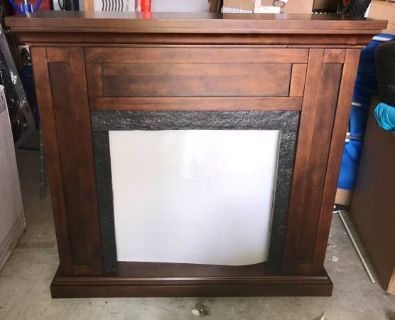 Fireplace Wood Mantel and Surround- Fireplace Insert NOT Included- New!