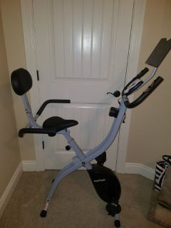 Folding Upright Bike with Backrest and iPad/Android Tablet Holder