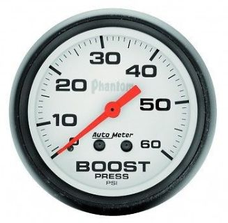 Purchase AutoMeter Gauge, Boost, Mechanical, 2-1/16, Phantom 0-60psi - 5705 motorcycle in Ogden, Utah, United States, for US $67.95