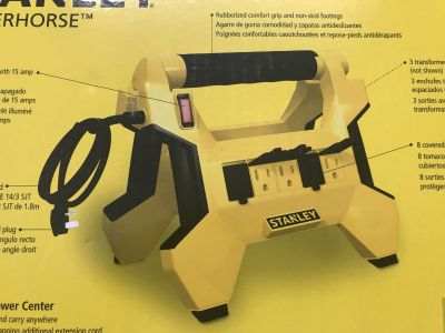 New Stanley Electrical multi outlet stand