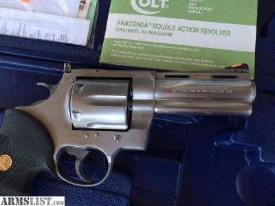 For Sale: Colt Anaconda 44 magnum stainless steel 4inch