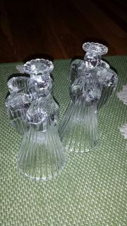 Vintage Glass Angel Candle Holders