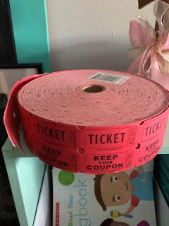 2000 red double raffle tickets