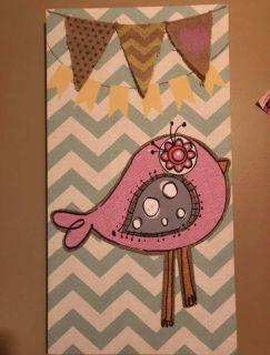Bird & Flag canvas