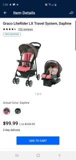 New in box car seat and stroller combo