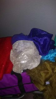 Big bag of fabric, tulle, lace