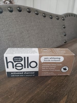 Brand New Hello Activated Charcoal Toothpaste