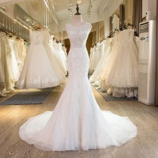 Tabitha's Mermaid Lace Wedding Dress Ivory Size 12 Ivory