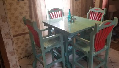 Rustic tall table dining set