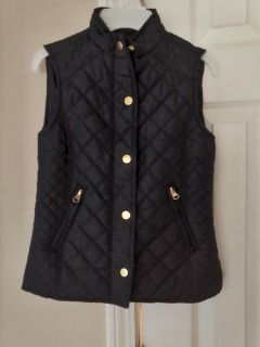 Navy quilted vest-Size 7/8