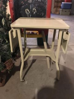 Antique Side Table with Collapsible Ends